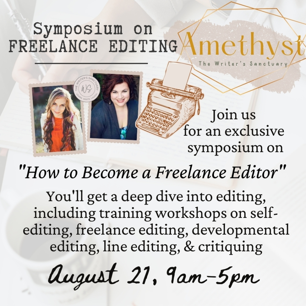 A symposium on freelance editing: how to become an editor, how to run an editing business, and more taught by C.J. Redwine and Mary Weber.