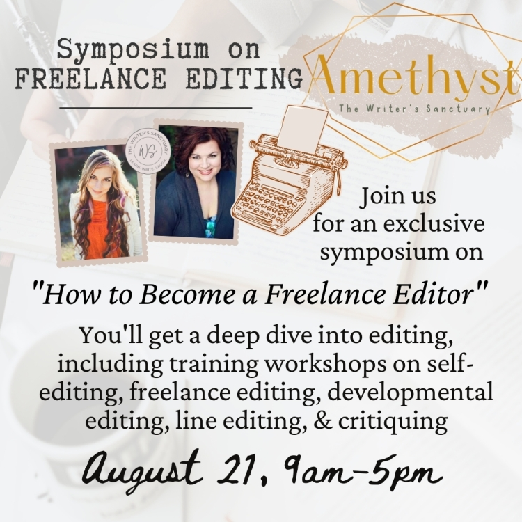 A symposium on how to become a freelance editor. Includes training on developmental editing, copy edits, line edits, assessment edits, self-editing, and critiques.